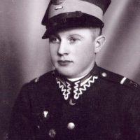 Władysław Bromboszcz w umundurowaniu podczas służby w III Pułku Ułanów Śląskich w Tarnowskich Górach rok 1938.