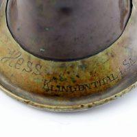 Kawaleryjska trąbka sygnałowa wyprodukowana w fabryce instrumentów muzycznych Hess Klingenthal S.A. w Saksonii w roku 1885